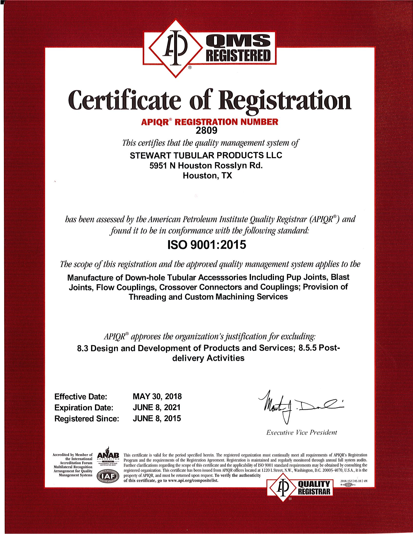 Certifications And Licenses Stewart